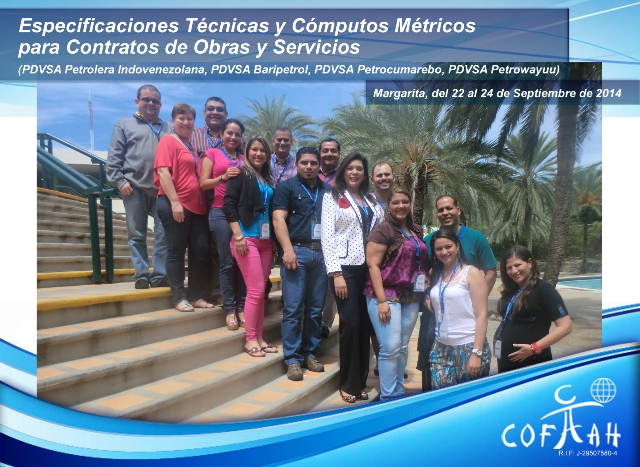 Foto AF Especificaciones Técnicas y Cómputos Métricos en Contratos y Obras de Servicios- 22 al 24 de Sep 2014