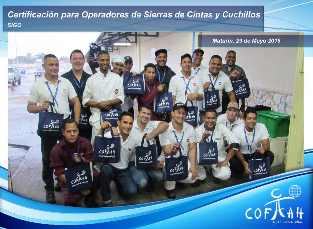 Certificación para Operadores de Sierras de Cintas y Cuchillos - SIGO