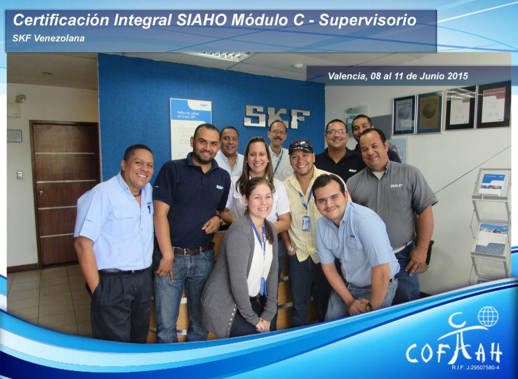 Certiifcación Integral SIAHO Modulo C Supervisorio - SKF