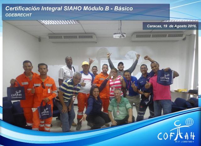 Programa Certificación Integral SIAHO Modulo B - Básico 19 de Agosto 2016