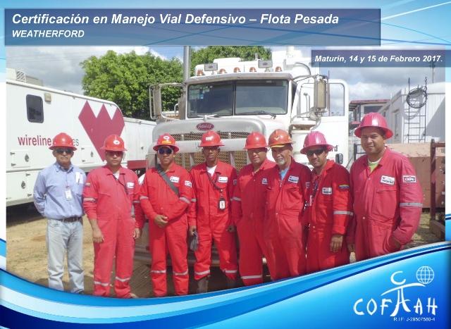 Certificación en Manejo Vial Defensivo - Flota Pesada 14 - 15 FEB 2017