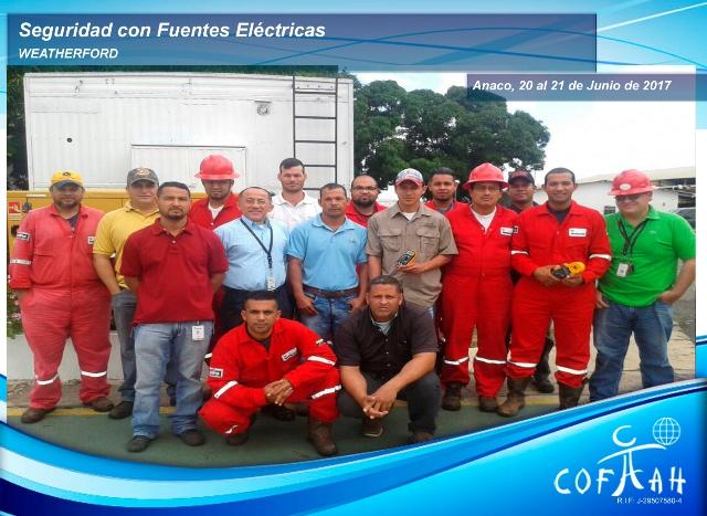 Fotografia de AF Seguridad con Fuentes Electricas. Weatherford. Anaco. 20y21 de Junio