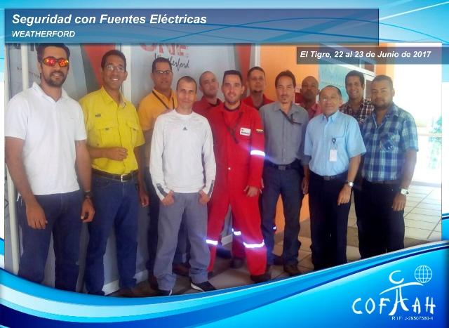 Fotografia de AF Seguridad con Fuentes Electricas. Weatherford. El Tigre. 22y23 de Junio