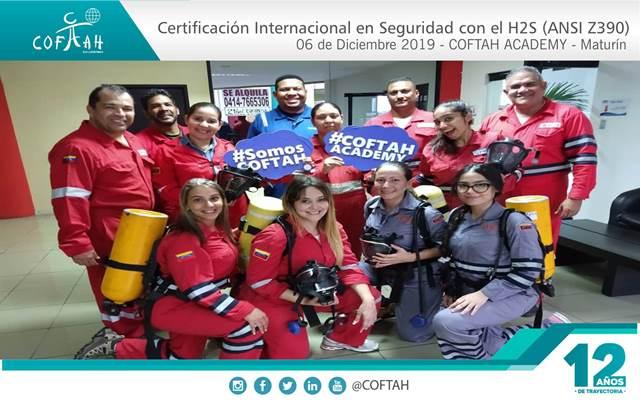 Fotografia en Formato Corporativo Cert Internacional en Seguridad con el H2S (ANSI Z390) COFTAH ACADEMY