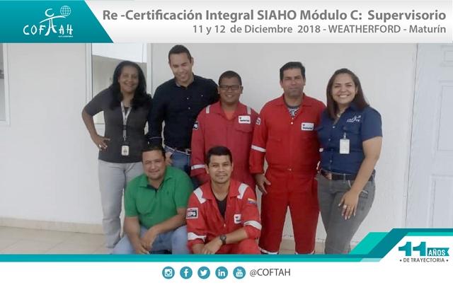 Re-Certificación Integral SIAHO Módulo C - Supervisorio (WEATHERFORD) Maturín