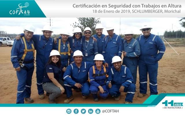 Certificacion en Seguridad con Trabajos en Altura (SCHLUMBERGER) Morichal