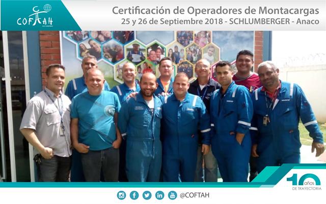Certificación de Operadores de Montacargas (SCHLUMBERGER) Anaco