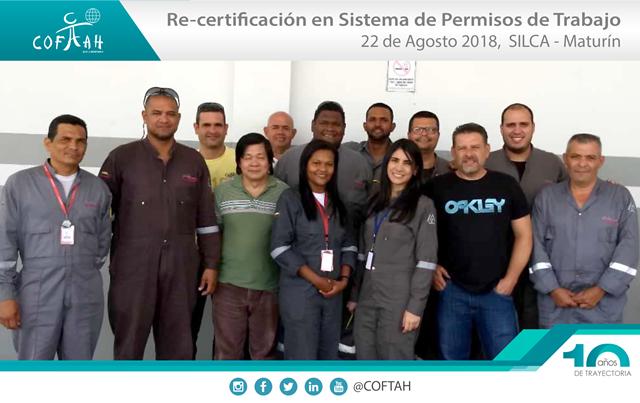 Re-Certificación en Sistema de Permisos de Trabajo (SILCA) Maturín