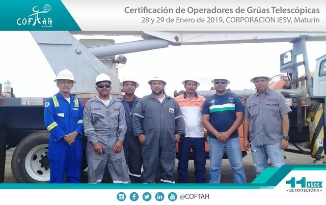 Certificación de Operadores de Grúas Telescópicas (CORPORACION IESV) Maturín