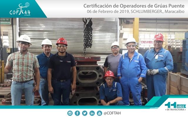 Certificación de Operadores de Grúas Puentes (SCHLUMBERGER) Maracaibo