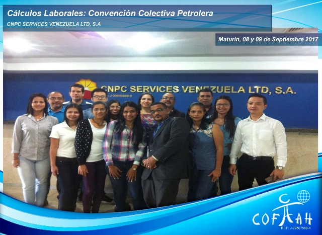 Cálculos Laborales: Convención Colectiva Petrolera (CNPC Services) Maturín