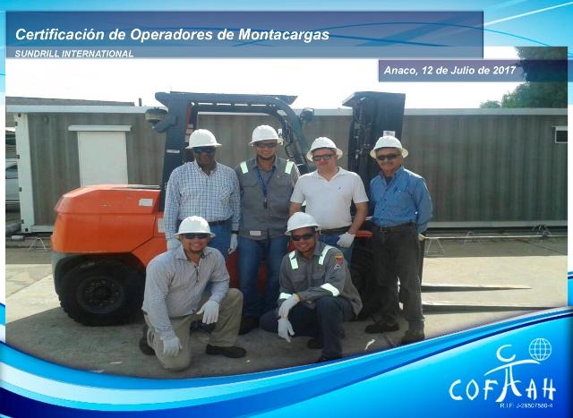 Certificación de Operadores de Montacargas (SUNDRILL Internacional) Anaco