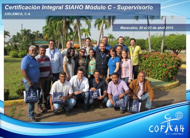 Certificación Integral SIAHO Módulo C - Supervisorio (CIELEMCA) Maracaibo