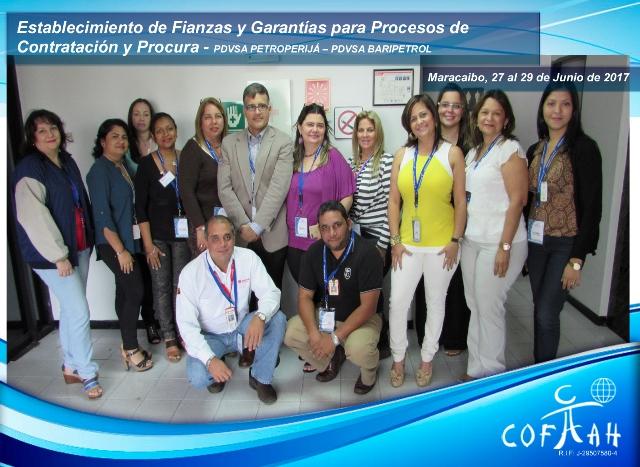 Establecimiento de Fianzas y Garantías para Procesos de Contratación y Procura (PDVSA Expresas Mixtas) Maracaibo