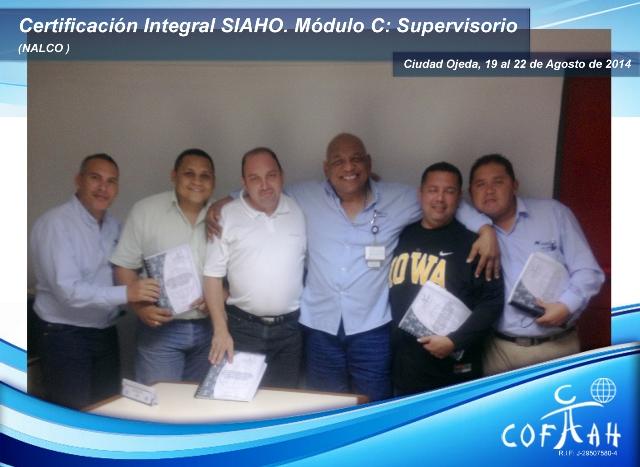 Certificación Integral SIAHO Módulo C Supervisorio (NALCO) Ciudad Ojeda