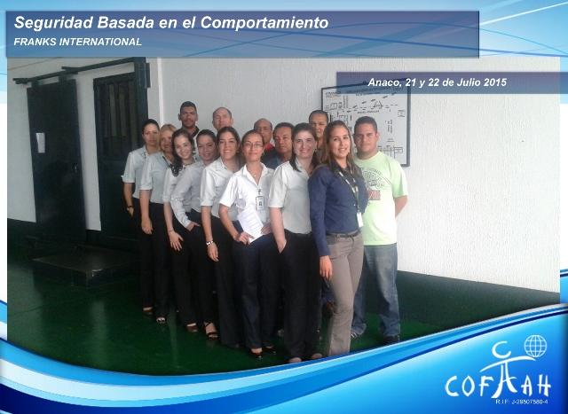 Seguridad Basada en el Comportamiento (FRANKS International) Anaco