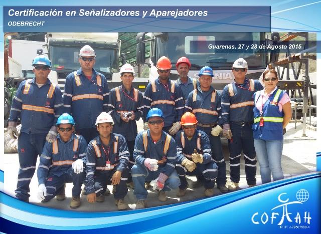 Certificación de Señalizadores y Aparejadrores (ODEBRECHT) Guarenas