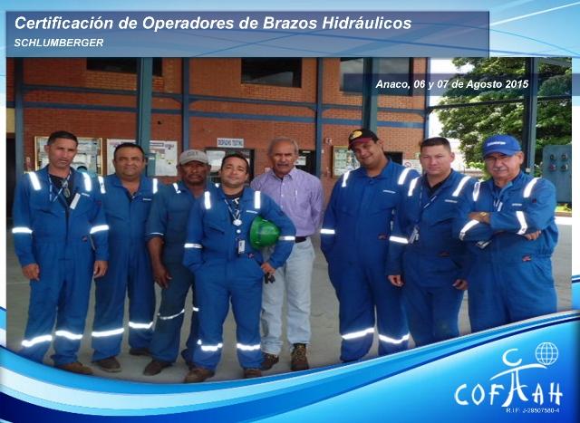 Certificación de Operadores de Brazos Hidráulicos (SCHLUMBERGER) Anaco