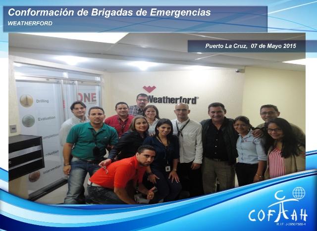 Conformación de Brigadas de Emergencias (WEATHERFORD) Puerto La Cruz