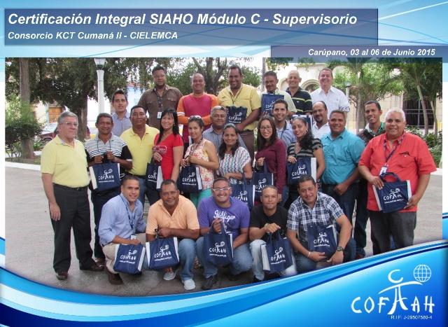 Certificación Integral SIAHO Módulo C – Supervisorio (Consorcio KCT Cumana II – CIELEMCA) Carupano