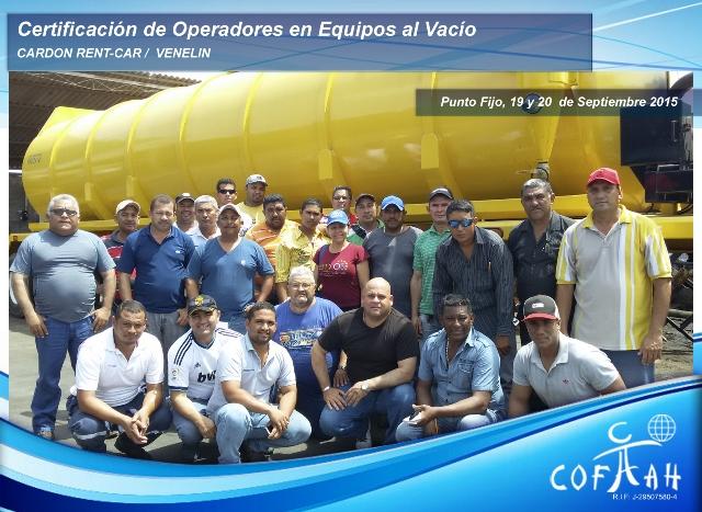 Certificación de Operadores en Equipos al Vacío (CARDON RENT-CAR / VELELIN ) Punto Fijo