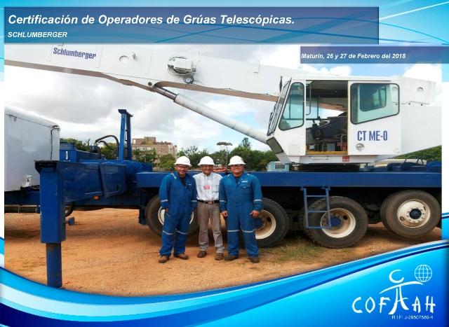 Certificación de Operadores de Grúas Telescópicas (SCHLUMBERGER) Maturín