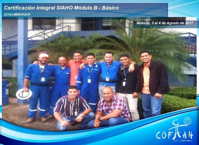 Certificación Integral SIAHO Módulo B – Básico (SCHLUMBERGER) Maturín