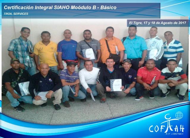 Certificación Integral SIAHO Módulo B – Básico (TROIL Services) El Tigre
