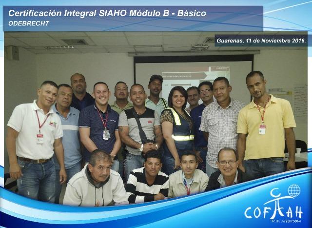 Certificación Integral SIAHO Módulo B – Básico (ODEBRECHT) Guarenas - Venezuela