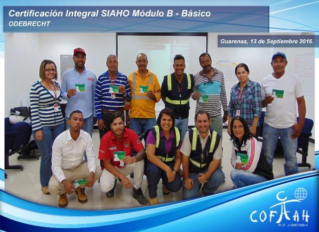Certificación Integral SIAHO Módulo B – Básico (ODEBRECHT) Guarenas