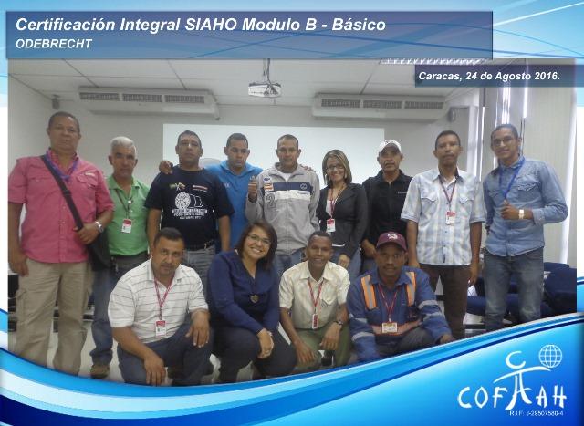 Certificación Integral SIAHO Módulo B – Básico (ODEBRECHT) Caracas -