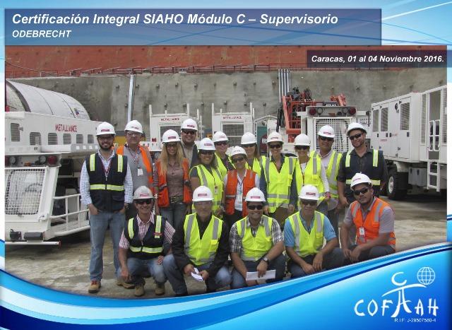 Certificación Integral SIAHO Módulo C – Supervisorio (ODEBRECHT) Caracas