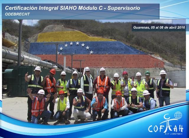 Certificación Integral SIAHO Módulo C – Supervisorio (ODEBRECHT) Guarenas