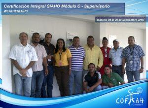 Certificación Integral SIAHO Módulo C – Supervisorio (WEATHERFORD) Maturín