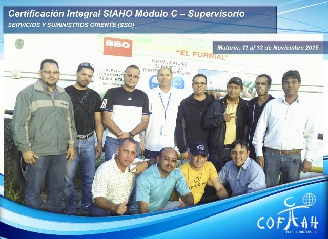 Certificación Integral SIAHO Módulo C - Supervisorio (SSO) El Furrial