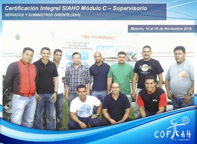 Certificación Integral SIAHO Módulo C – Supervisorio (SSO) El Furrial