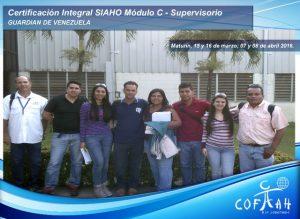 Certificación Integral SIAHO Módulo C – Supervisorio (GUARDIAN) Maturín