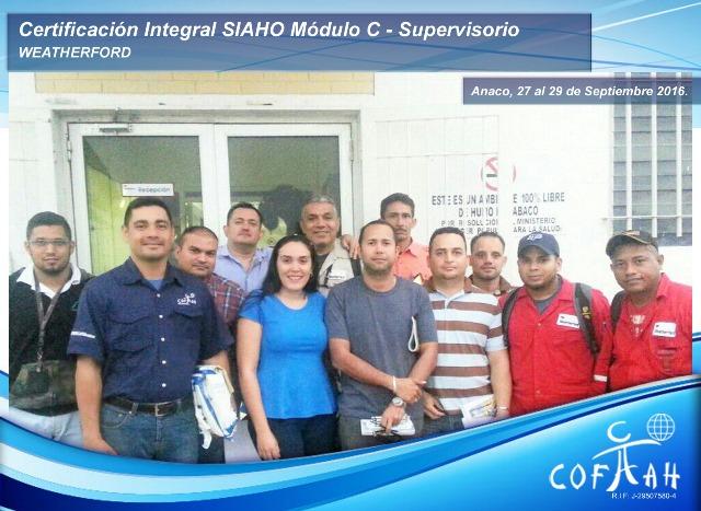 Certificación Integral SIAHO Módulo C – Supervisorio (WEATHERFORD) Anaco