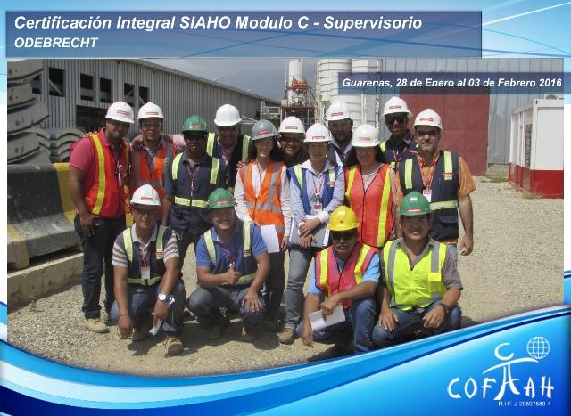 Certificación Integral SIAHO Módulo C - Supervisorio (ODEBRECHT) Guarenas