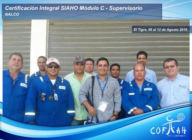 Certificación Integral SIAHO Módulo C - Supervisorio (NALCO) El Tigre