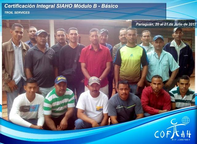 Certificación Integral SIAHO Módulo B – Básico (TROIL Services) Pariaguan