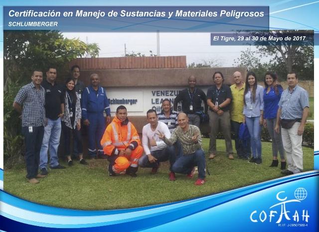 Certificación en Manejo de Sustancias y Materiales Peligrosos (SCHLUMBERGER) El Tigre
