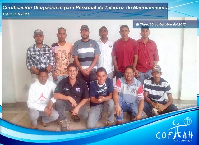 Certificación Ocupacional para Personal de Taladros de Mantenimiento (TROIL Services) El Tigre