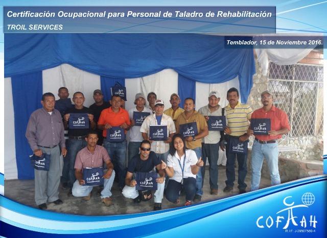 Certificación Ocupacional para Personal de Taladros de Rehabilitación (TROIL Services) Temblador