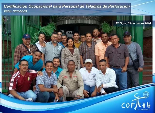 Certificación Ocupacional para Personal de Taladros de Perforación (TROIL Services) El Tigre
