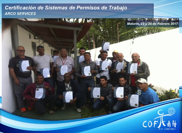 Certificación en Sistema de Permisos de Trabajo (ARCO Services) Maturin