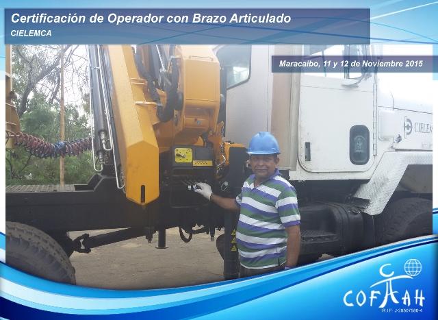 Certificación de Operador con Brazo Artículado (CIELEMCA) Maracaibo