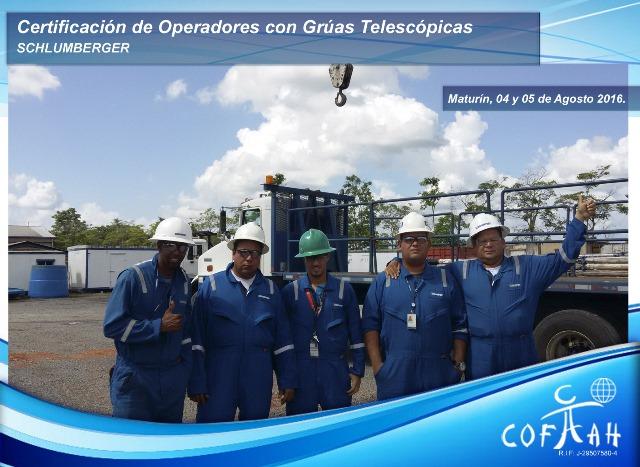 Certificación de Operadores con Grúas Telescópicas (SCHLUMBERGER) Maturín