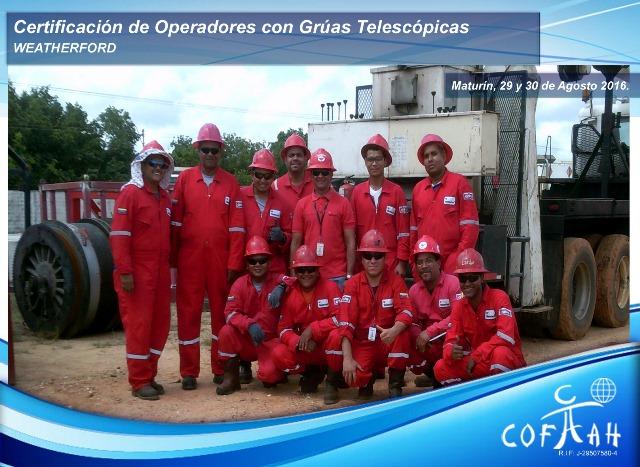 Certificación de Operadores con Grúas Telescópicas (WEATHERFORD) Maturín
