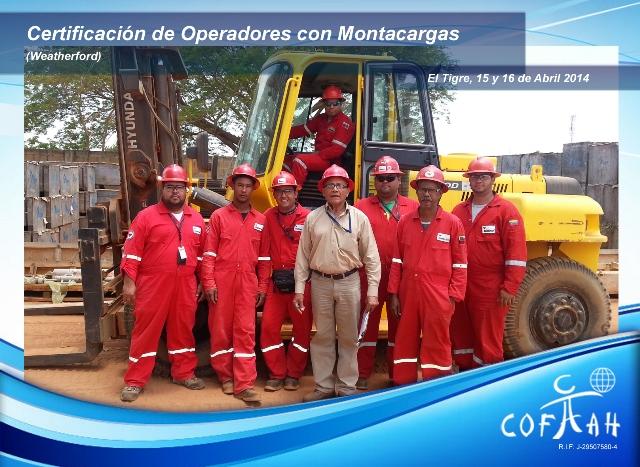 Certificación de Operadores con Montacargas (WEATHERFORD) El Tigre